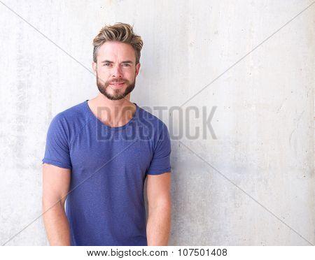 Cool Guy With Beard And Purple Shirt