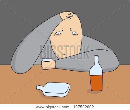vector depressive person
