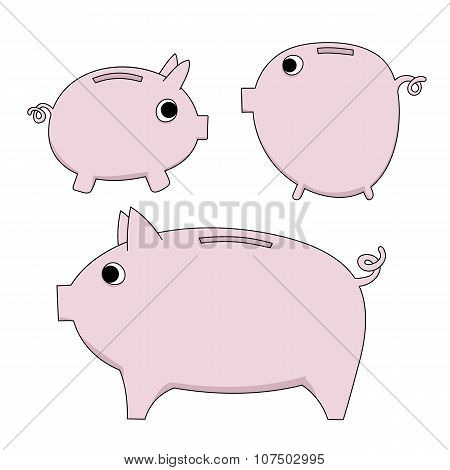 vector piggy moneybox