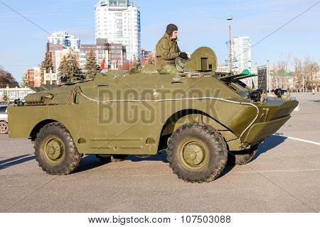Reconnaissance/patrol Vehicle Brdm-1 Exhibited At The Parade