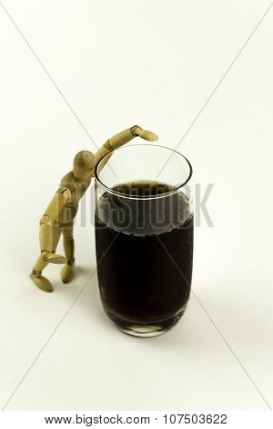 Wooden Doll With Juice