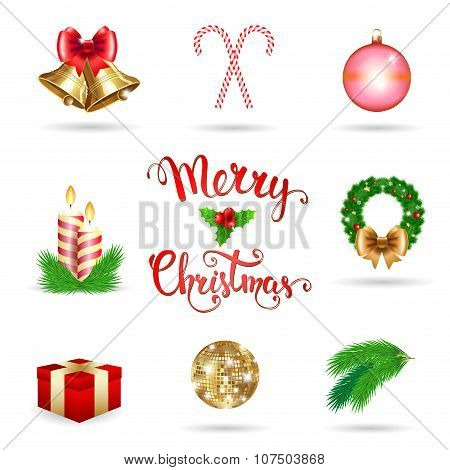 Christmas Vector Icons Set.