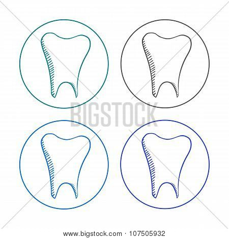logo tooth set