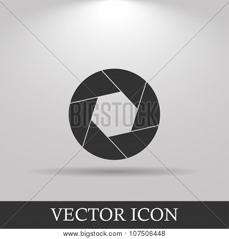 Aperture Icon. Flat Design Style