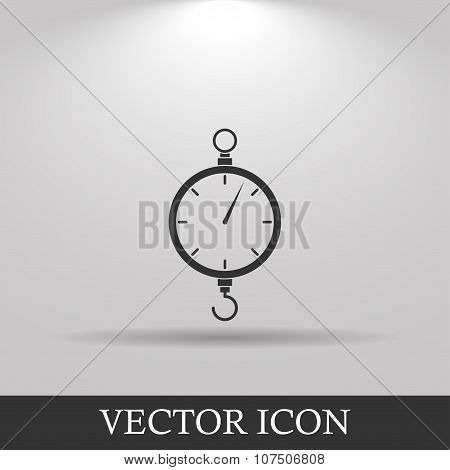 Scales Icon. Flat Design Style
