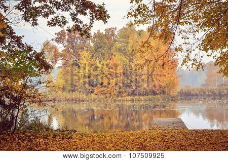 Autumn morning landscape.