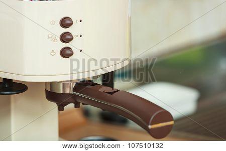 Closeup Of Coffeemaker.