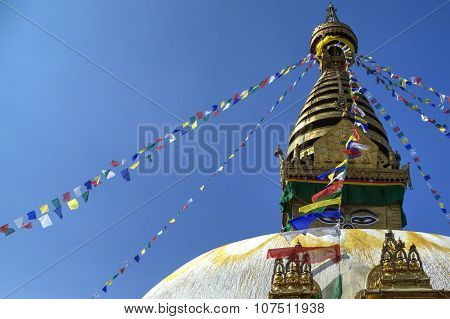 Swayambhunath or Monkey temple, Kathmandu, Nepal