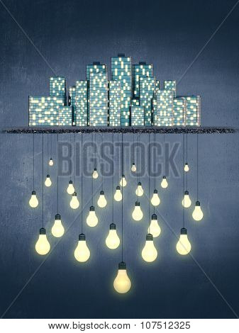 Big City Creates Bright Ideas, Night Style Concept