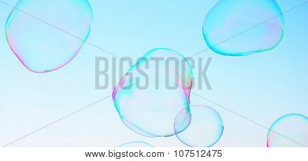 abstract close-up soap bubble background modern simple design with copy space