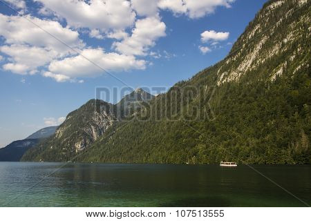 Koenigssee Lake Close To Berchtesgaden, Germany, 2015