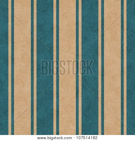 Teal And Beige Striped Tile Pattern Repeat Background