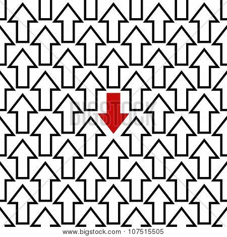Anti trend arrow pattern