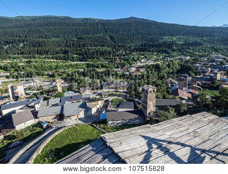 Mestia Town In Georgia