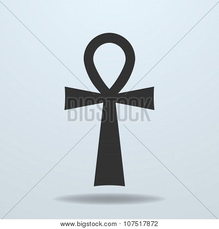 Egyptian cross, ankh symbol. Vector icon