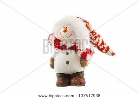 Fancy Figure Of Santa Claus Isolated On White Background