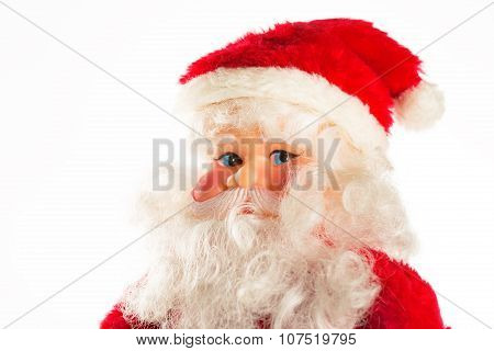 Figure Of Santa Claus Isolated On White
