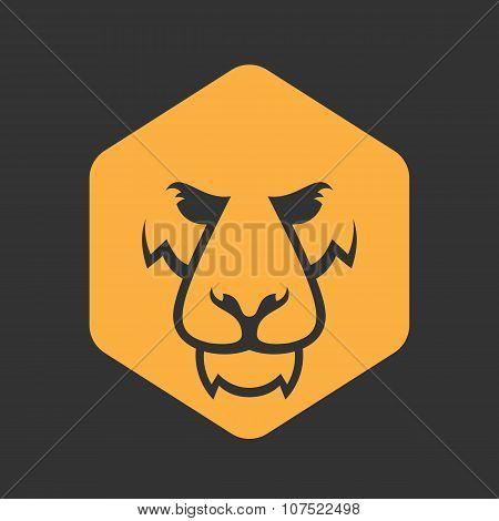 Lion Logo. Sport Mascot. Predator Lion Logotype Template