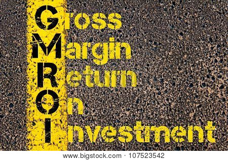 Business Acronym Gmroi As Gross Margin Return On Investment