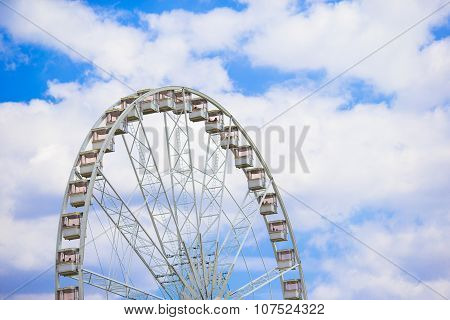 Ferris wheel Roue de Paris on the Place de la Concorde from Tuileries Garden in Paris, France