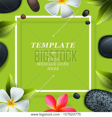 Health and beauty template, spa concept