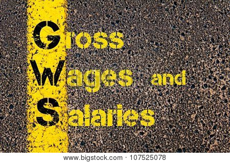 Business Acronym Gws As Gross Wages And Salaries