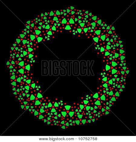 Radioactive Christmas wreath