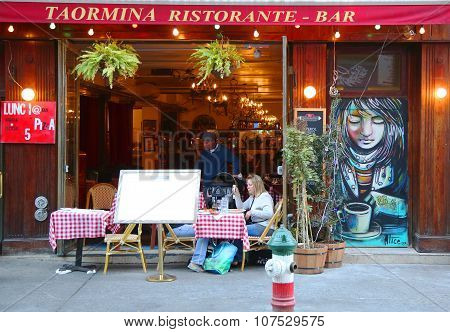 Italian restaurant in historic Little Italy in lower Manhattan