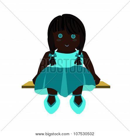 Rag Doll Illustration aqua