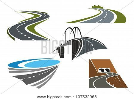 Road bridge, rural highways and road tunnels