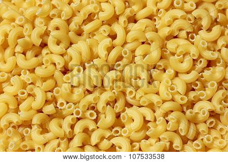 Close up of raw pasta, macaroni , itallian food.