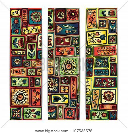 Paisley batik background. Ethnic african cards.