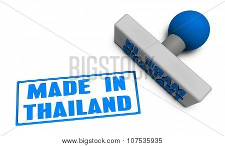 Made in Thailand Stamp or Chop on Paper Concept in 3d