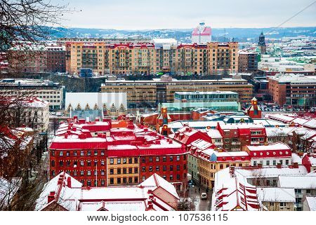 Gothenburg Skyline In Winter, Sweden
