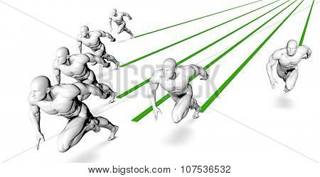 Running a Marathon or Race as Sports Concept