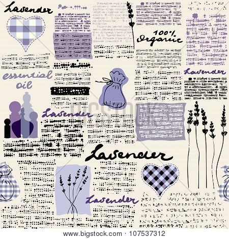 Lavender newspaper background