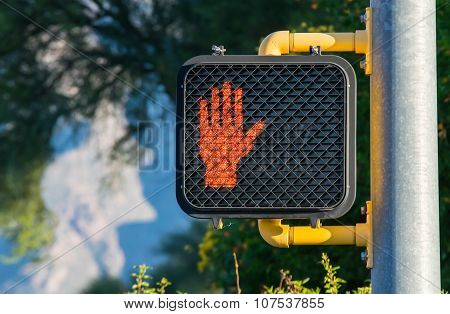 Don't Walk!  Crosswalk Sign.