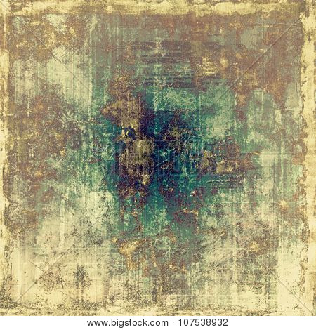 Old school textured background. With different color patterns: yellow (beige); brown; blue; green