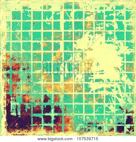 Dirty and weathered old textured background. With different color patterns: yellow (beige); purple (violet); cyan; green