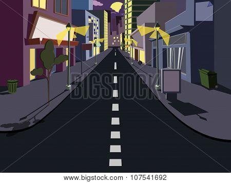 Night cityscape comics
