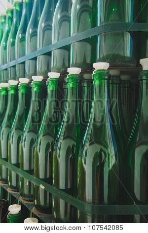 Empty green bottle pattern