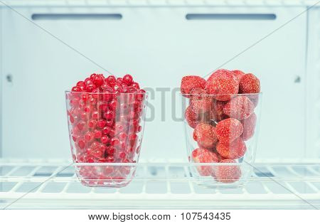 Frozen Strawberries And Red Currants