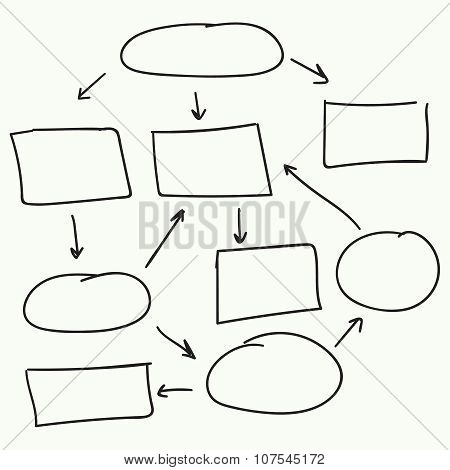 Abstract flowchart vector design