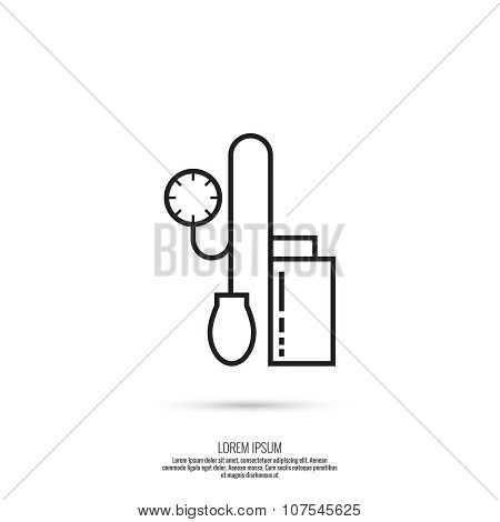 Hand tonometer vector