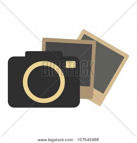 Hipster retro photo camera icon