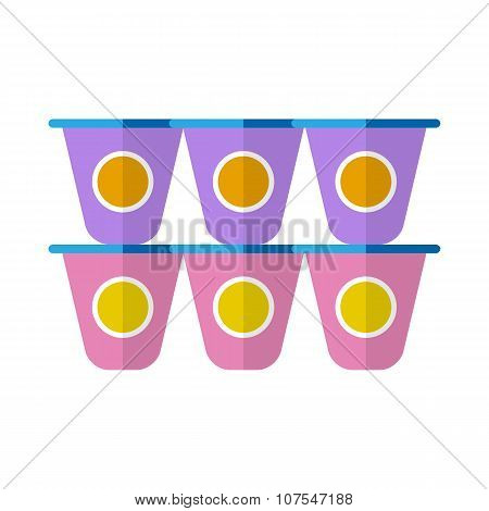 Yogurt flat icon