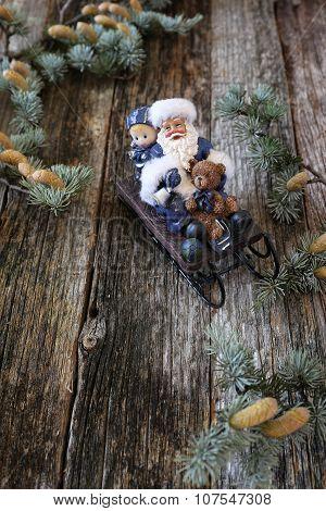 Santa Claus In Sledge
