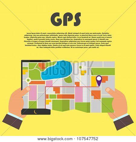 Infographics Mobile Gps
