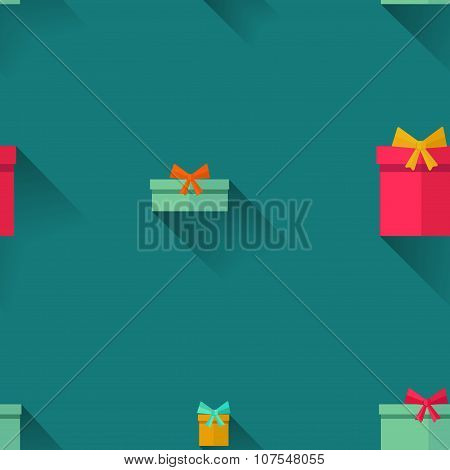 Gifts on a blue background