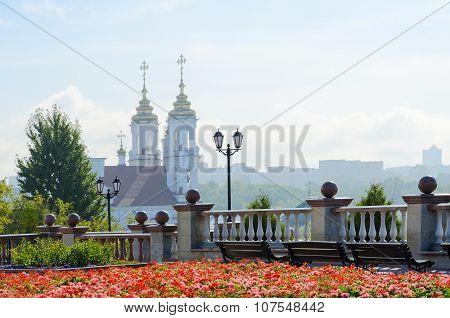 View Of Holy Voskresenskaya Church With Uspenskaya Mountain, Vitebsk